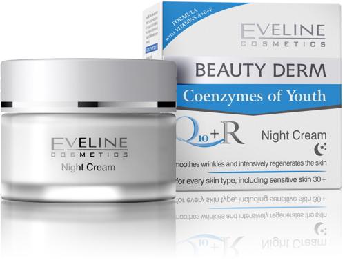 Kem dưỡng da đêm Eveline Beauty Derm Night Cream Q10 + R
